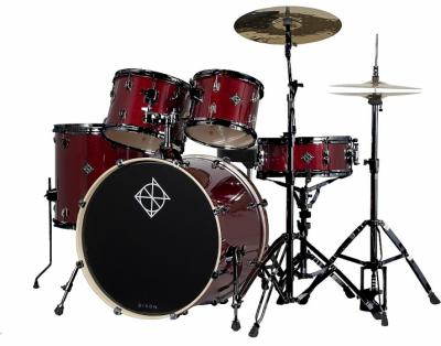 DIXON Spark 522 (BWR) Wine Red - zestaw perkusyjny z serii Spark