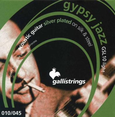 Galli GSL10 Silk & Steel Light - struny do gitary akustycznej
