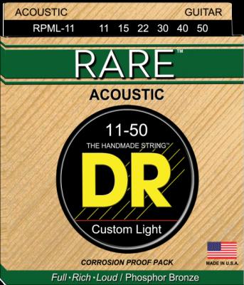 DR struny do gitary akustycznej RARE 11-50