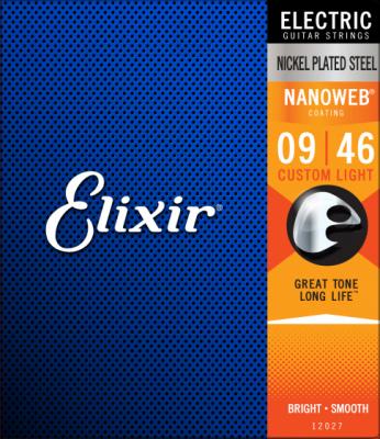 Elixir Nanoweb CUSTOM LIGHT 9-46 - struny do gitary elektrycznej