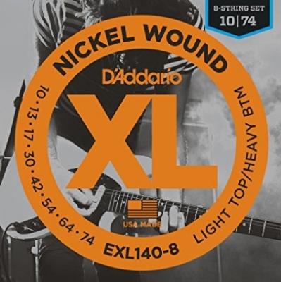 D'Addario EXL140-8 10-74 Struny do gitary elektrycznej