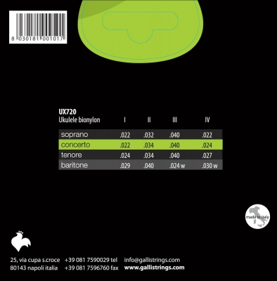 Galli UX720 - struny do ukulele koncertowego-6264