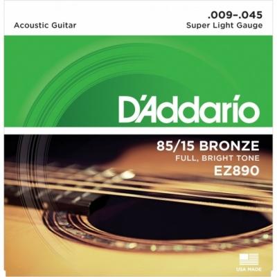 D'Addario EZ890 9-45 - struny do gitary akustycznej
