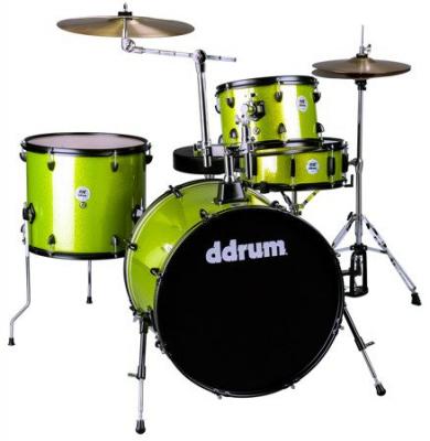 Ddrum D2 Rock Lime Sparkle - akustyczny zestaw perkusyjny