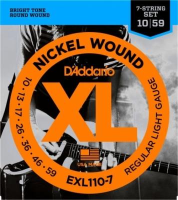 D'Addario EXL110-7 10-59 - struny do gitary elektrycznej 7-str