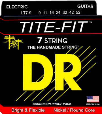 DR struny do gitary elektrycznej TITE-FIT  9-52 7-str