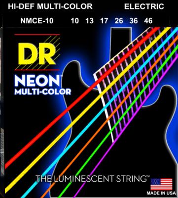DR struny do gitary elektrycznej NEON MULTI-COLOR 10-46