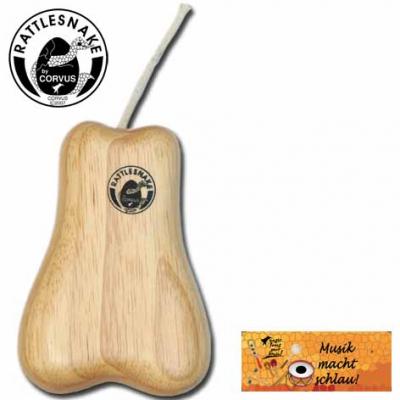 Corvus Rattlesnake Shaker drewniany gruszka
